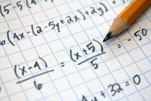 math problems on graph paper with pencil